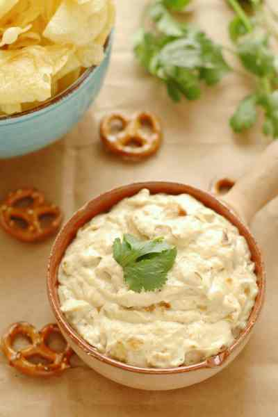 Slow Cooker Caramelized Onion and Asiago Beer Dip