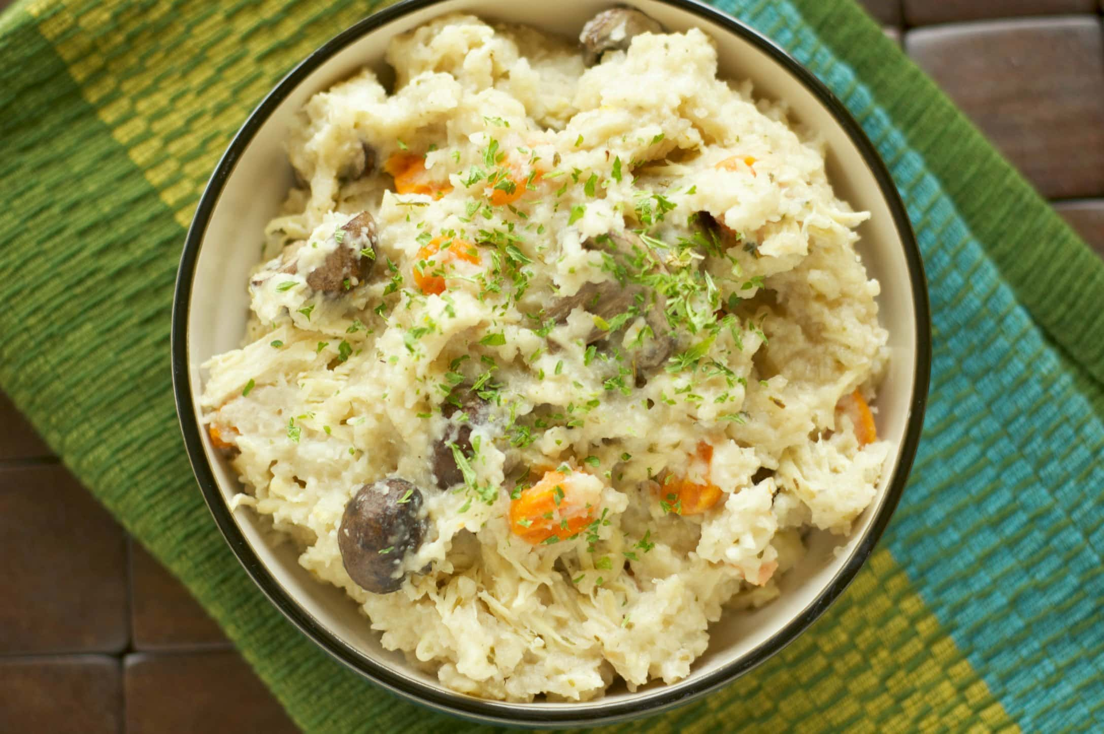 Slow cooker rosemary chicken and mushroom risotto slow for How do i make chicken risotto