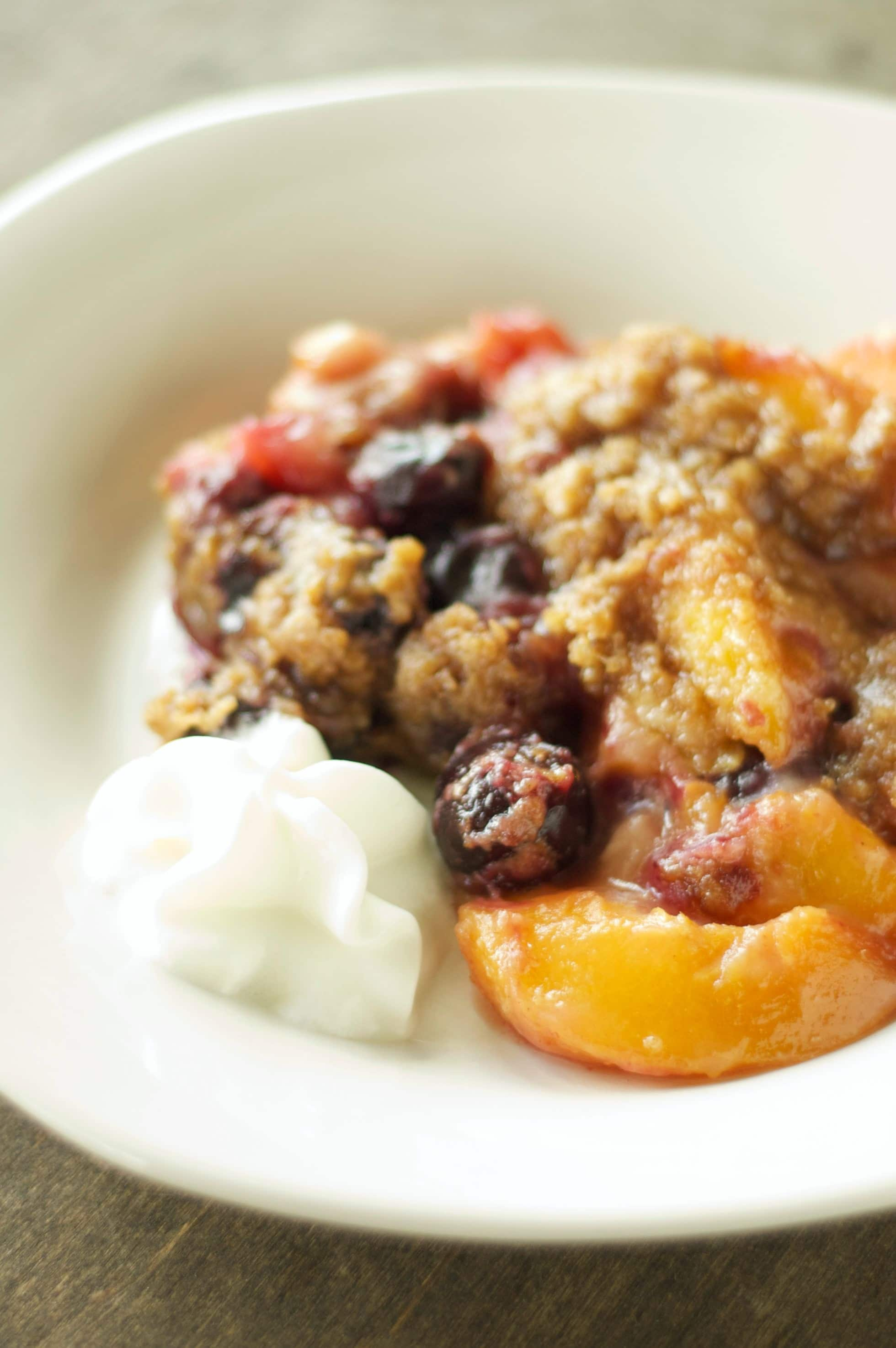 Cherry Peach Crumble