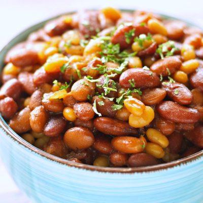 Slow Cooker Honey BBQ Baked Beans