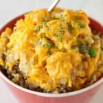 Freezer Meal:  Slow Cooker Tater Tot Casserole