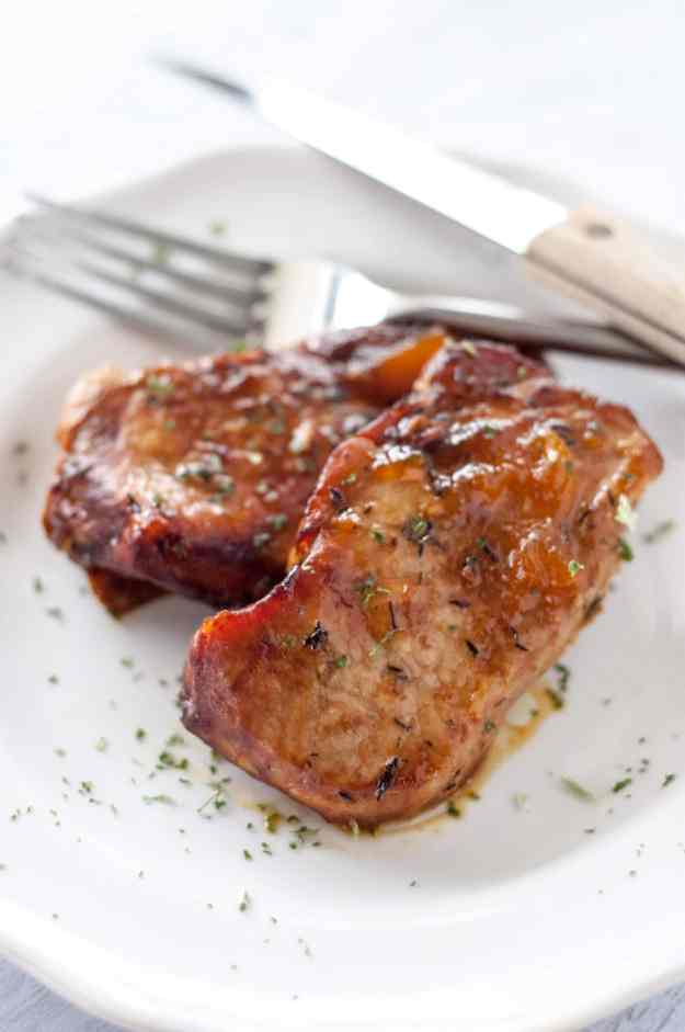Slow Cooker Peach Glazed Pork Chops - Slow Cooker Gourmet