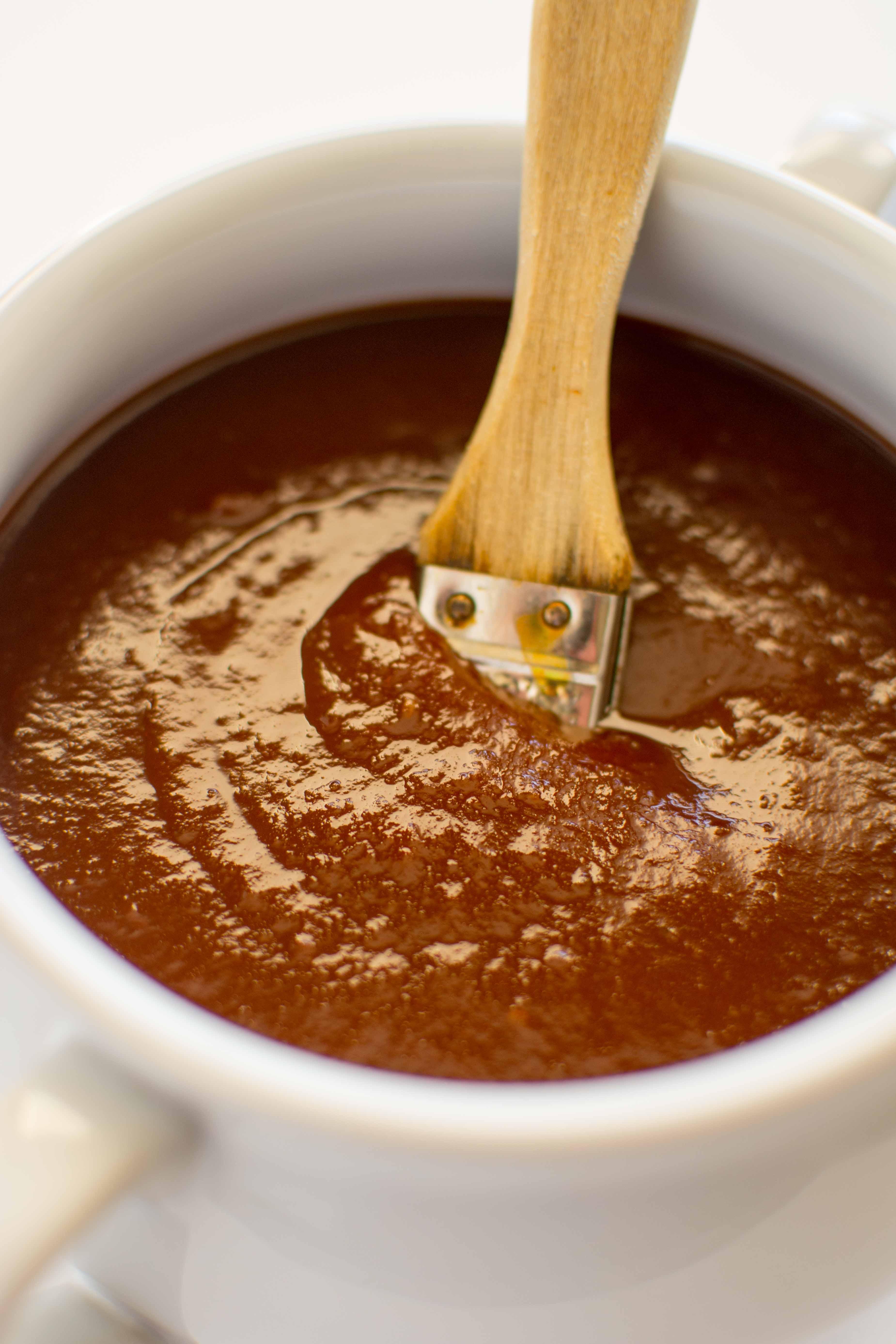 Slow Cooker Jalapeno Peach BBQ Sauce