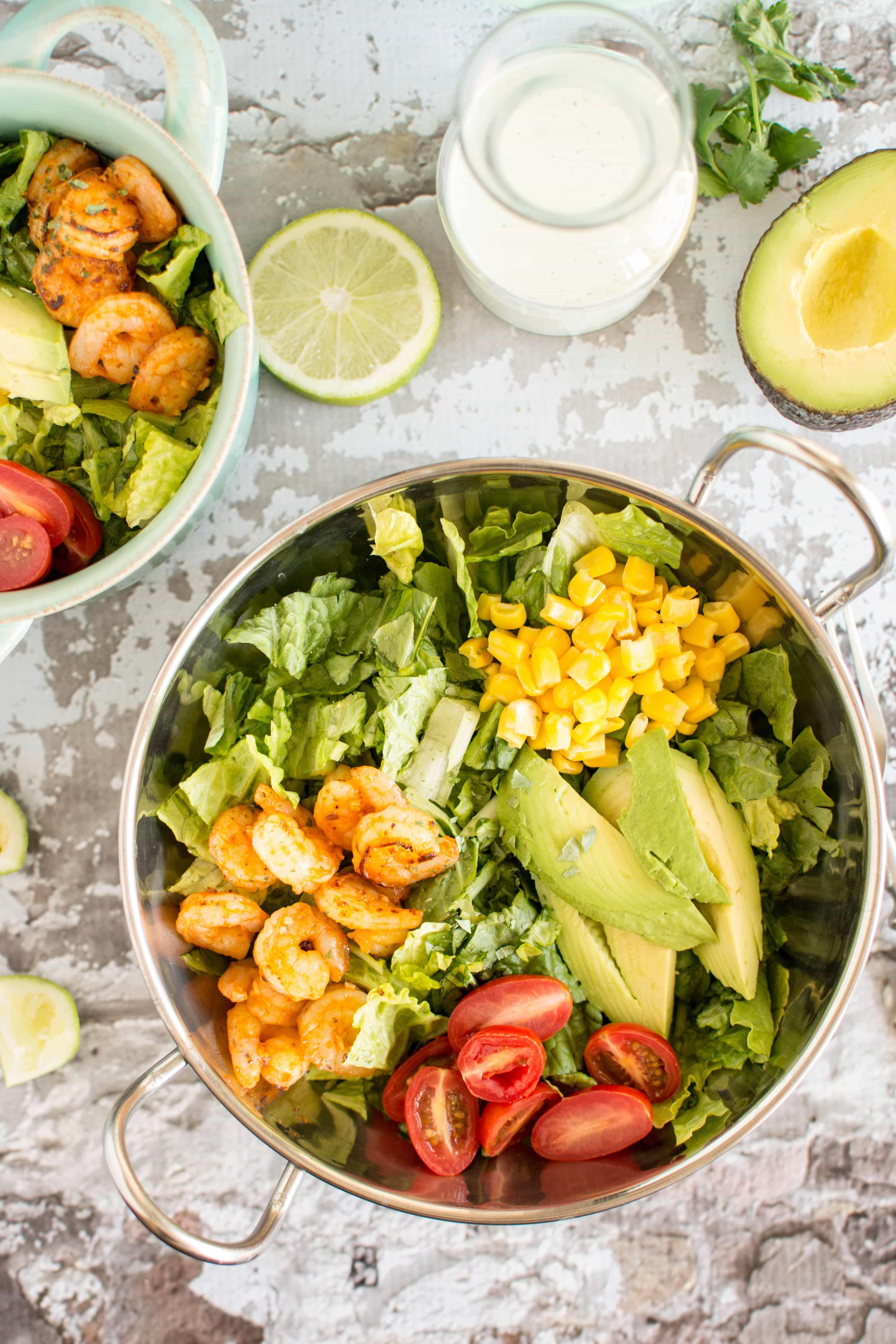 Sriracha Shrimp Salad