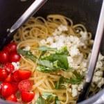 Tomato Basil Goat Cheese Pasta