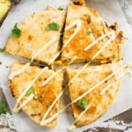 Southwest Chicken Quesadillas with Avocado Ranch