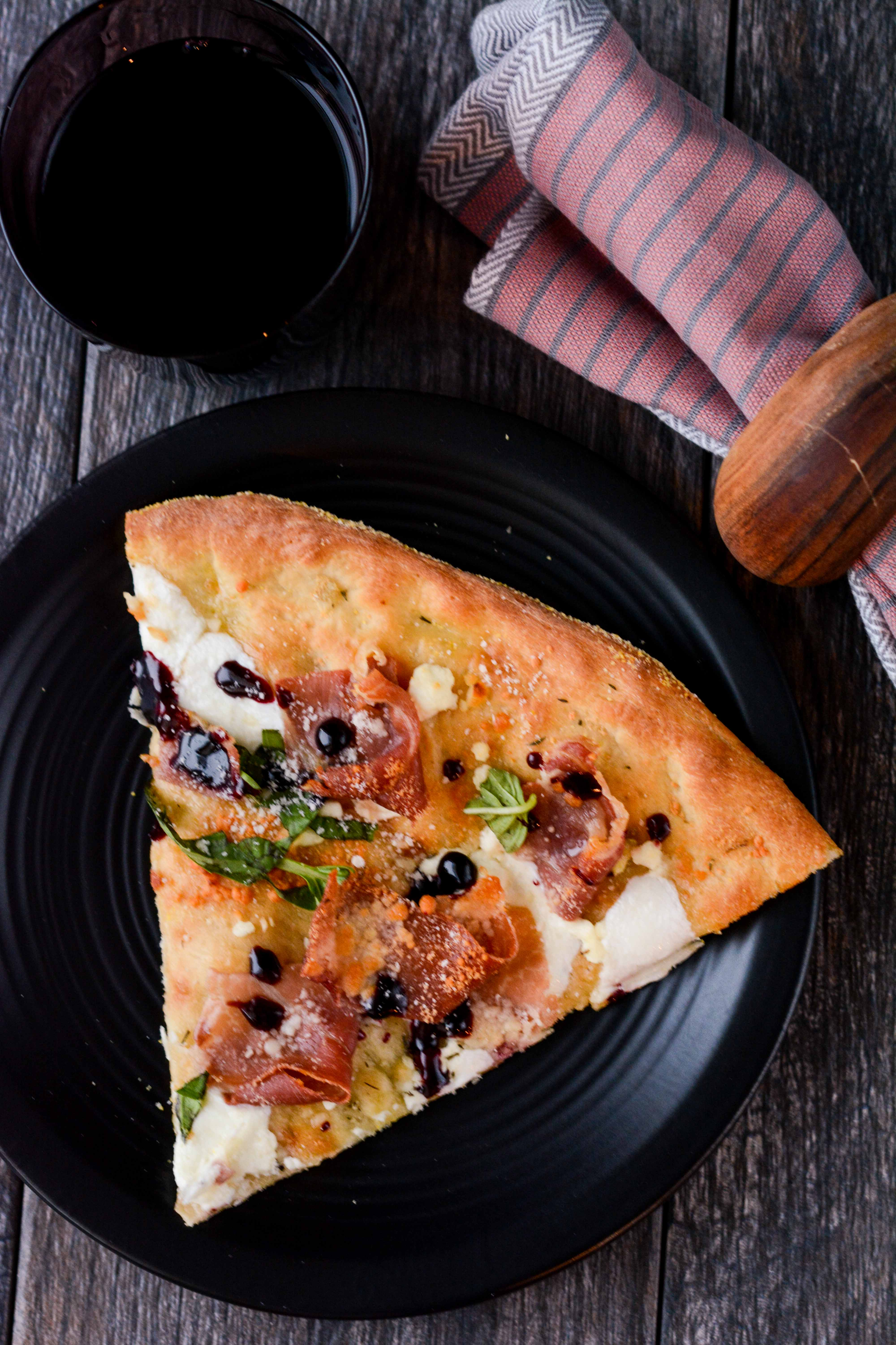 Proscuitto Goat Cheese Basil Pizza-6 - Slow Cooker Gourmet