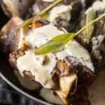 Slow Cooker Sage Short Ribs with Gorgonzola Cream Sauce