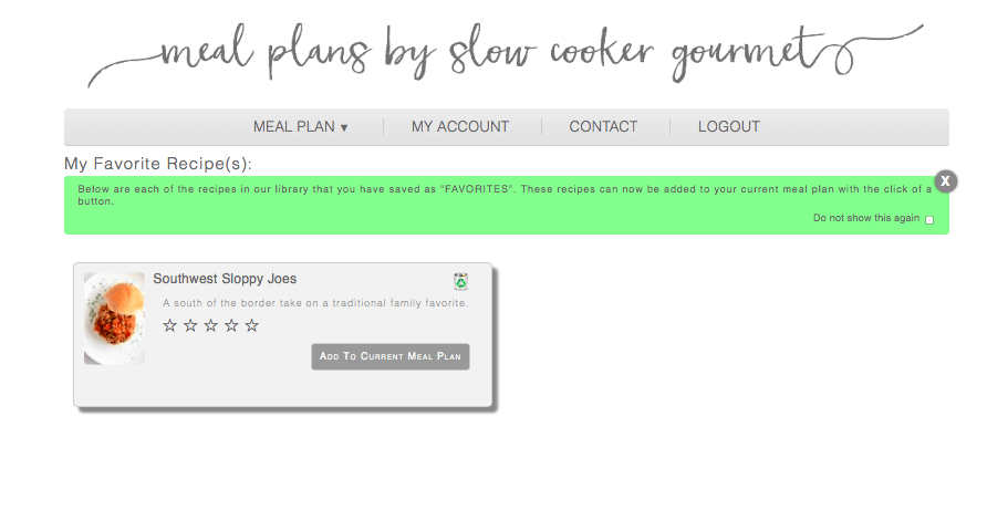 Meal Plans by Slow Cooker Gourmet