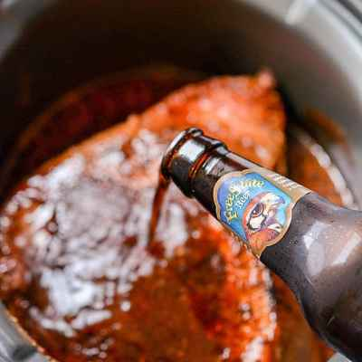 Slow Cooker Beer Glazed Brisket