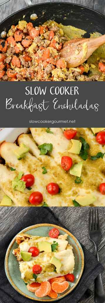 Creative breakfasts are the best, especially when they are so simple to make. Slow Cooker Breakfast Enchiladas will leave you and your guests impressed.