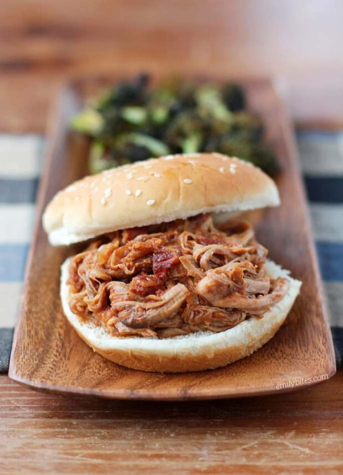 Slow Cooker Apple Bacon BBQ Pulled Pork
