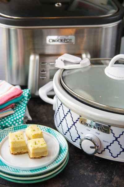 "Crock-Pot® ""Crock Squad"" Party + Crock-Pot® Slow Cooker Lime Twist Cheesecake Cookie Bars"