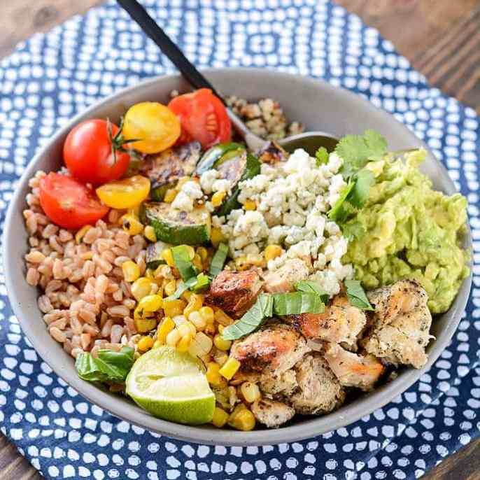 Slow Cooker California Chicken Bowls-3 fg
