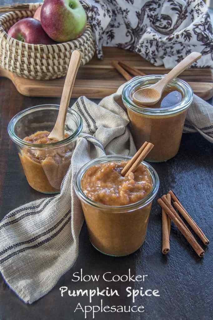 Slow Cooker Pumpkin Spiced Applesauce