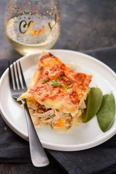 Chicken and Butternut Squash Lasagna