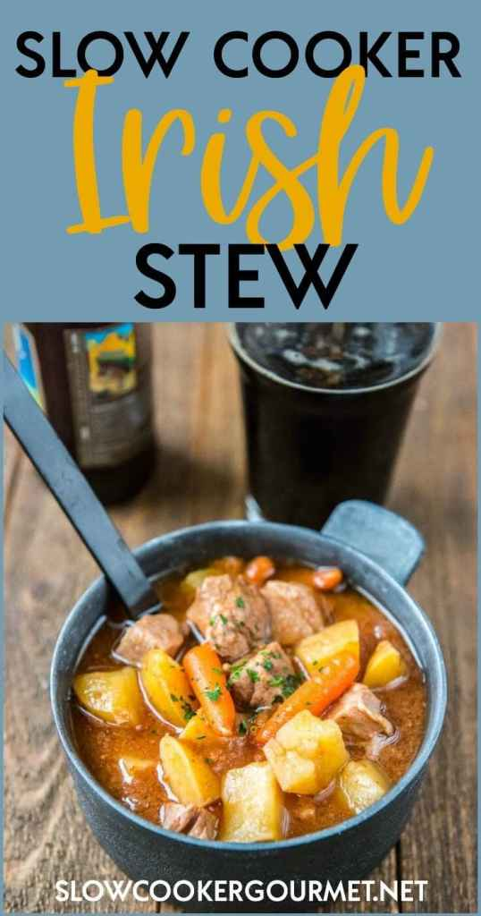 This delicious Slow Cooker Irish Stew is easy to make and is hearty and packed with goodness!
