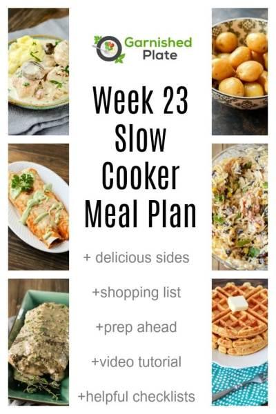 Week 23 Slow Cooker Meal Plan