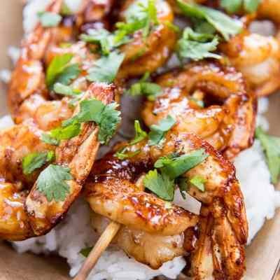 Raspberry Chipotle Shrimp Skewers {Food Truck Friday}