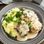 Slow Cooker Chicken Meatballs with Cream Sauce