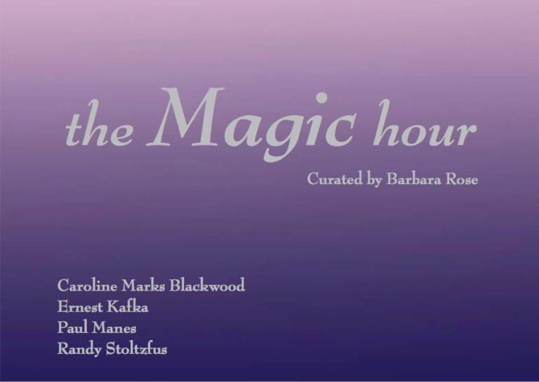 The Magic Hour curated by Barbara Rose