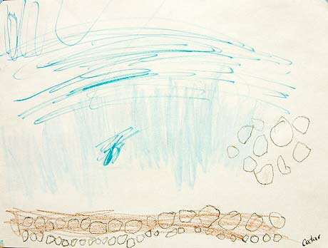 """""""Untitled,"""" 2008, by Cedar, colored pencil and marker on paper, 8.5""""x11"""""""