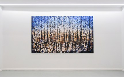 Painting 'Seagate' by Randall stoltzfus hangs on gallery wall