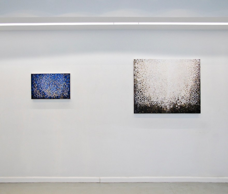 Vigil (left) and Ardor installed at Blank Space Gallery
