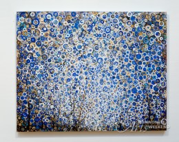 Randall Stoltzfus painting 'Eighth' hangs on wall