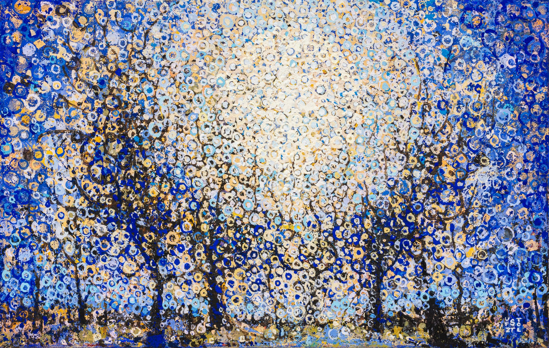 Light through the trees | The painting Held by Randall Stoltzfus