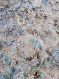 Detail of painting Wheel by Randall Stoltzfus showing open texture