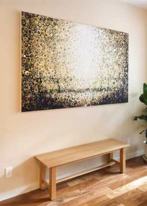 """Twice Born"" by Randall Stoltzfus hangs in the spot it was #custommade for 
