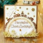Kartka na chrzest w świątecznej szacie