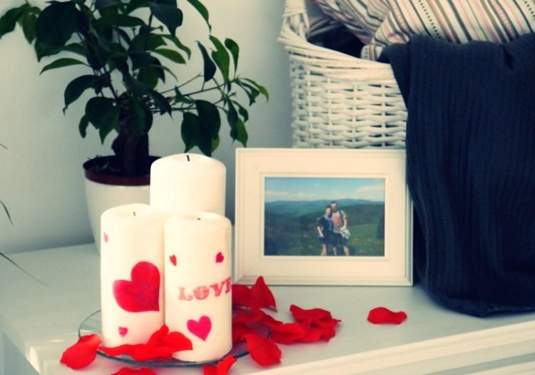 Walentynkowe świeczki
