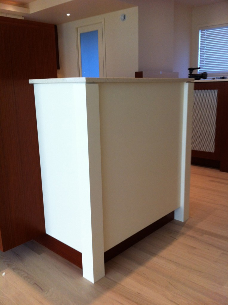 kitchen counter overhang china cabinet on location – island legs   slow home studio