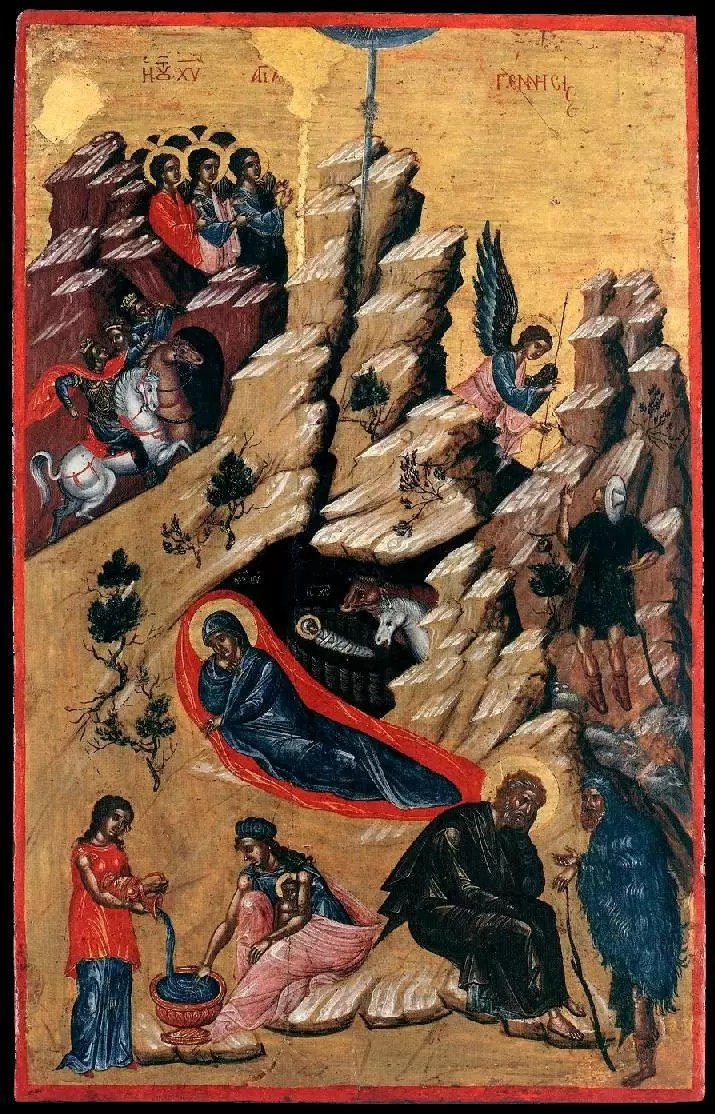 Ikona Narodzenie Jezusa, autor nieznany, 1590 rok