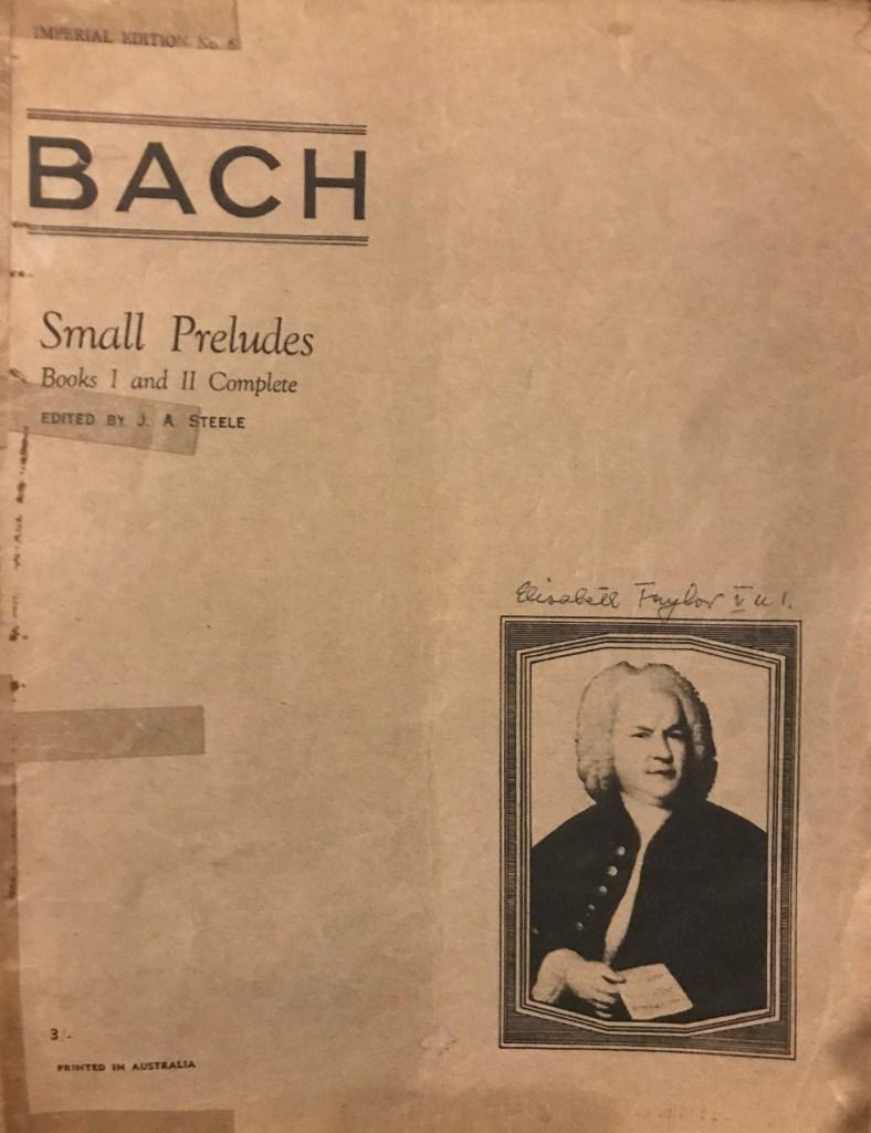 Bach Small Preludes Cover