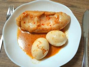 鶏むね肉と卵の韓国風生姜醤油煮
