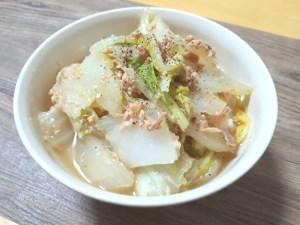 白菜のツナ味噌蒸し煮