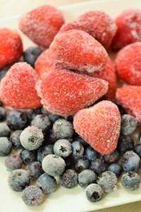 冷凍ブルーベリーの状態だとアントシアニン量が増える