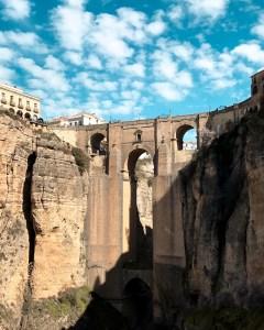 Stone bridge with long span in Ronda