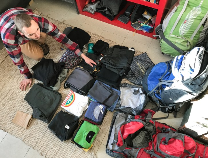 packing stuff for a long term travel