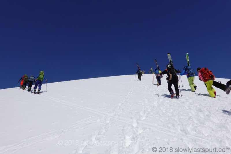 月山スキー場 姥ヶ岳山頂へ