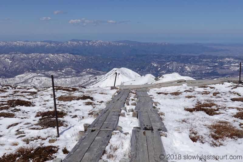 月山スキー場 姥ヶ岳山頂