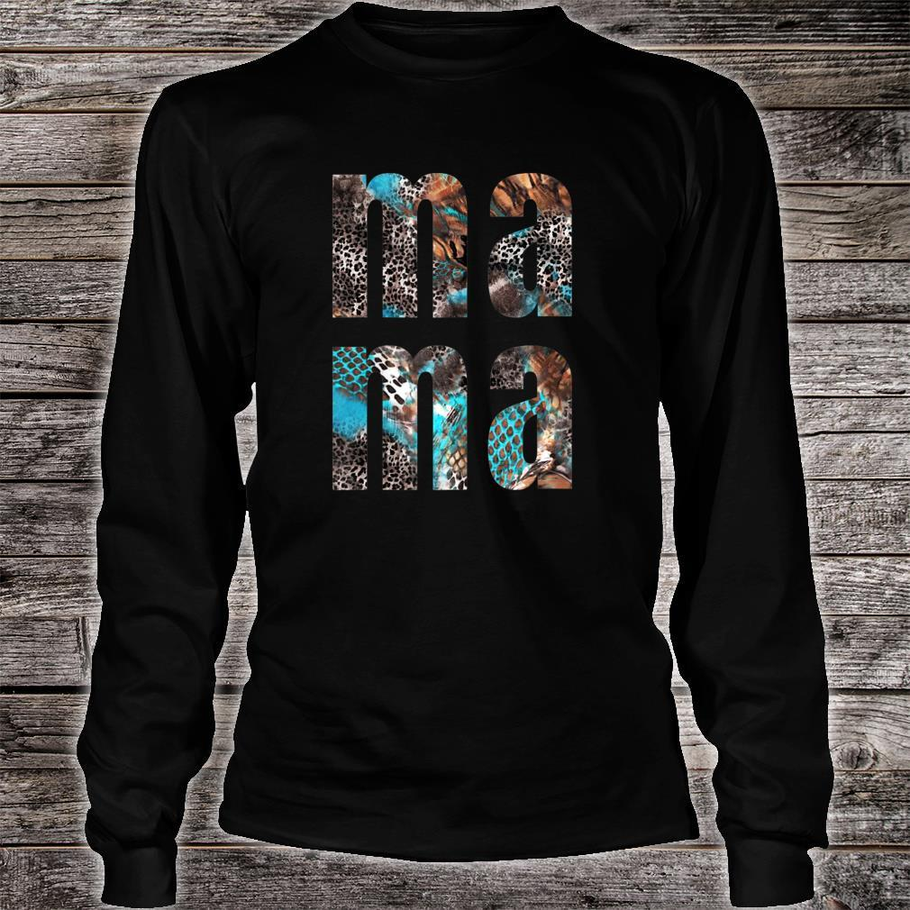 MA MA Snakeskin Letters Printed Mothers Day Shirt long sleeved