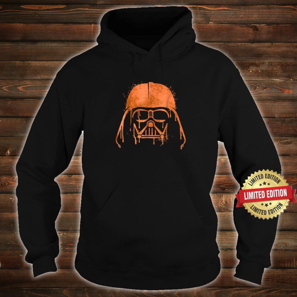 Star Wars Darth Vader Orange Helmet Drip Shirt hoodie