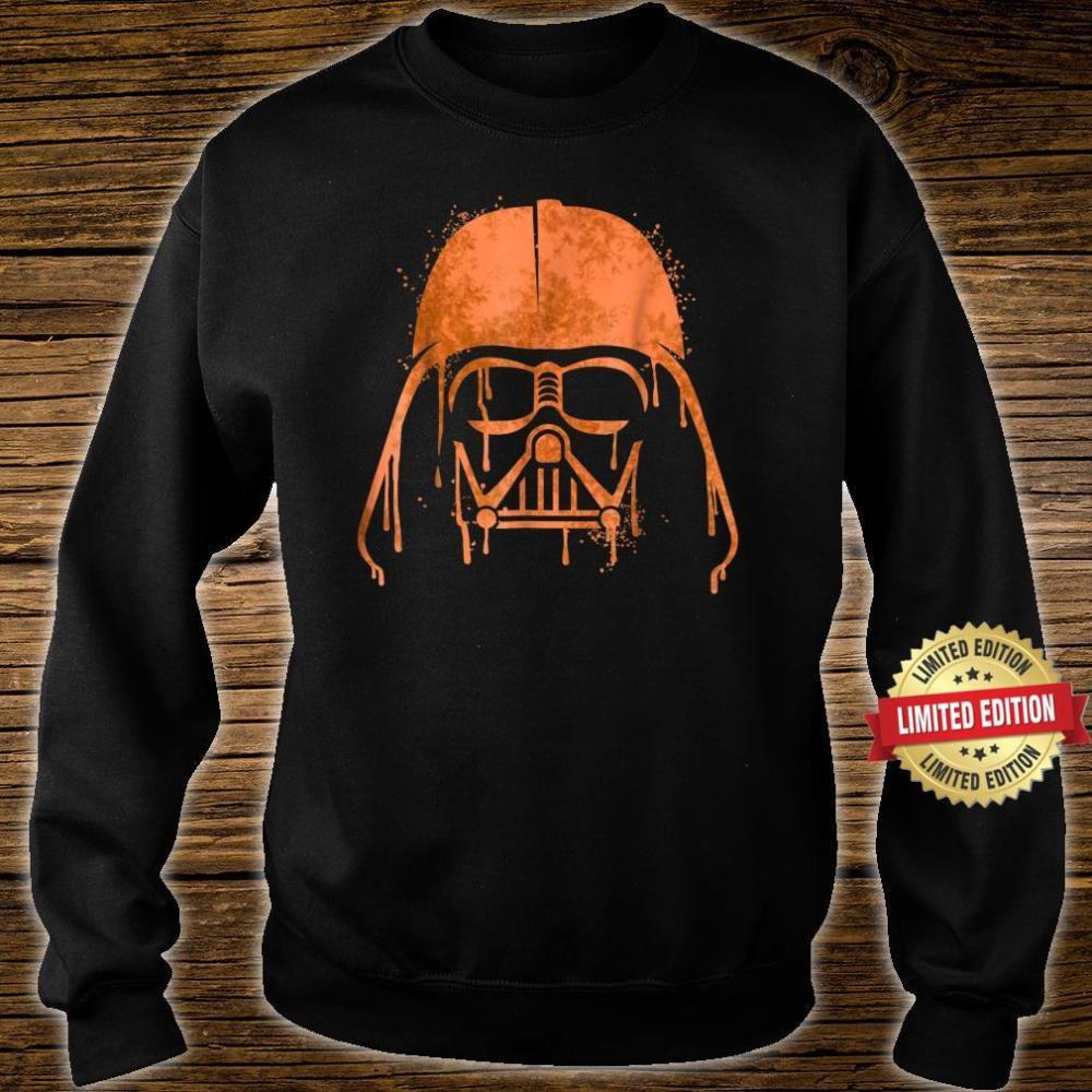 Star Wars Darth Vader Orange Helmet Drip Shirt sweater