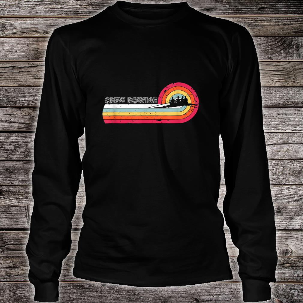 Vintage Crew Rowing For Sport Game Player Shirt Long sleeved