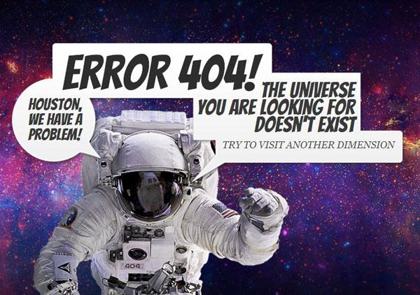 error 404 in space