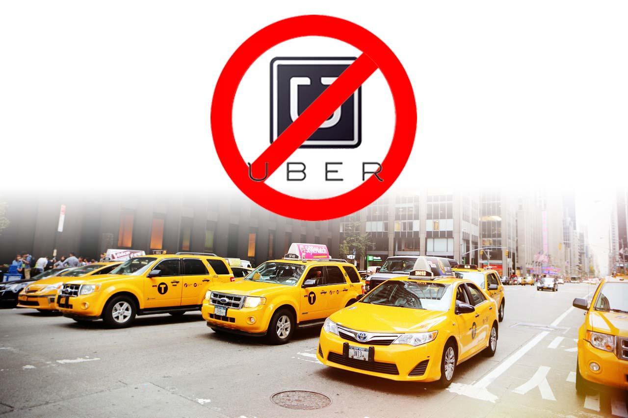 택시는 되지만 우버는 안 된다.